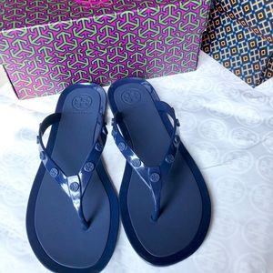 Tory Burch studded logo jelly Flip Flops 7.